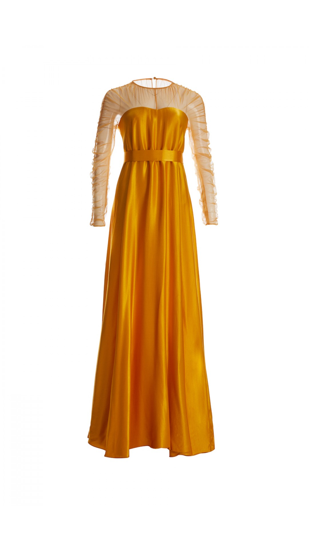 BELT DETAILED YELLOW DRESS