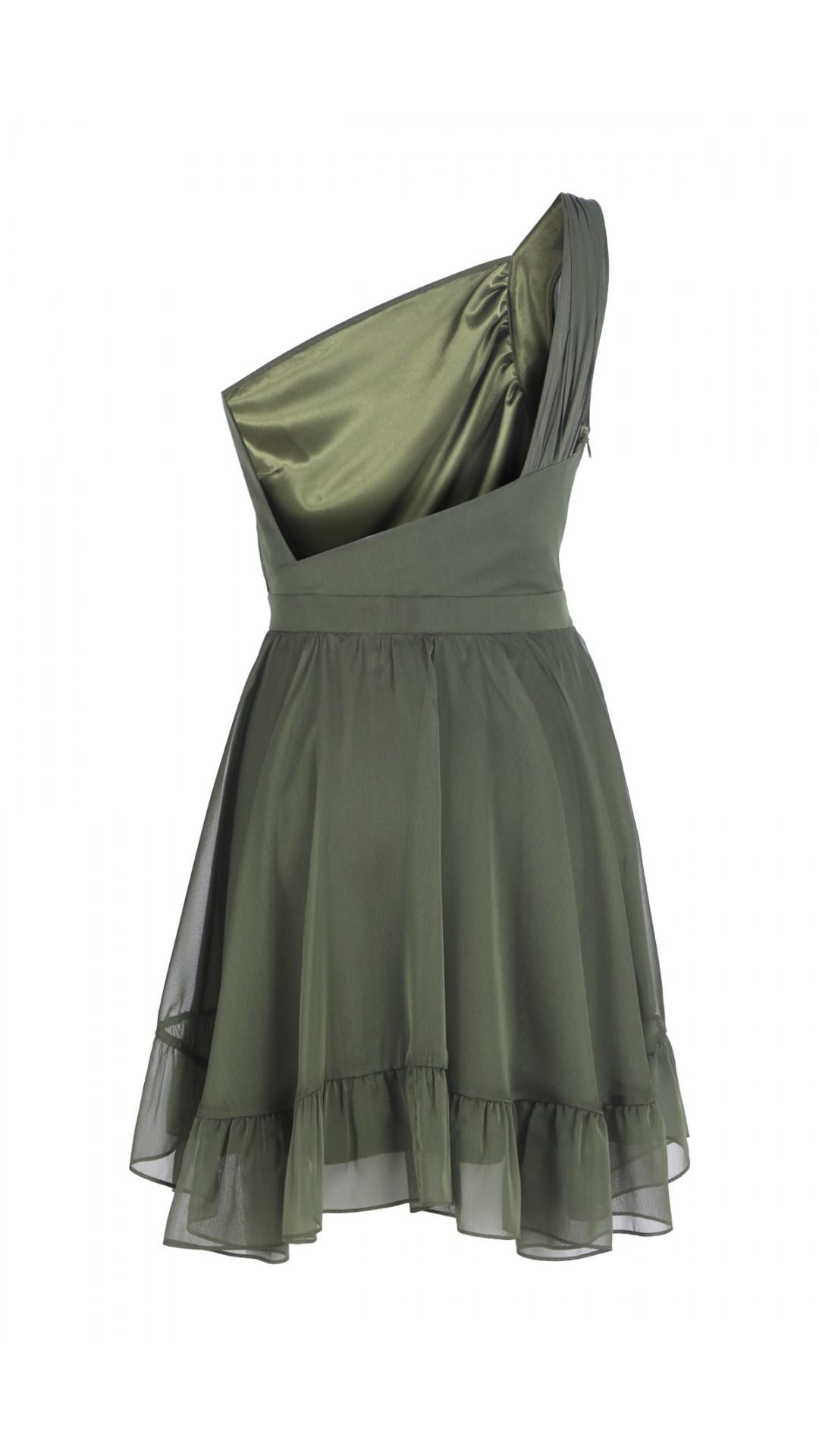 CHIFFON GREEN DRESS