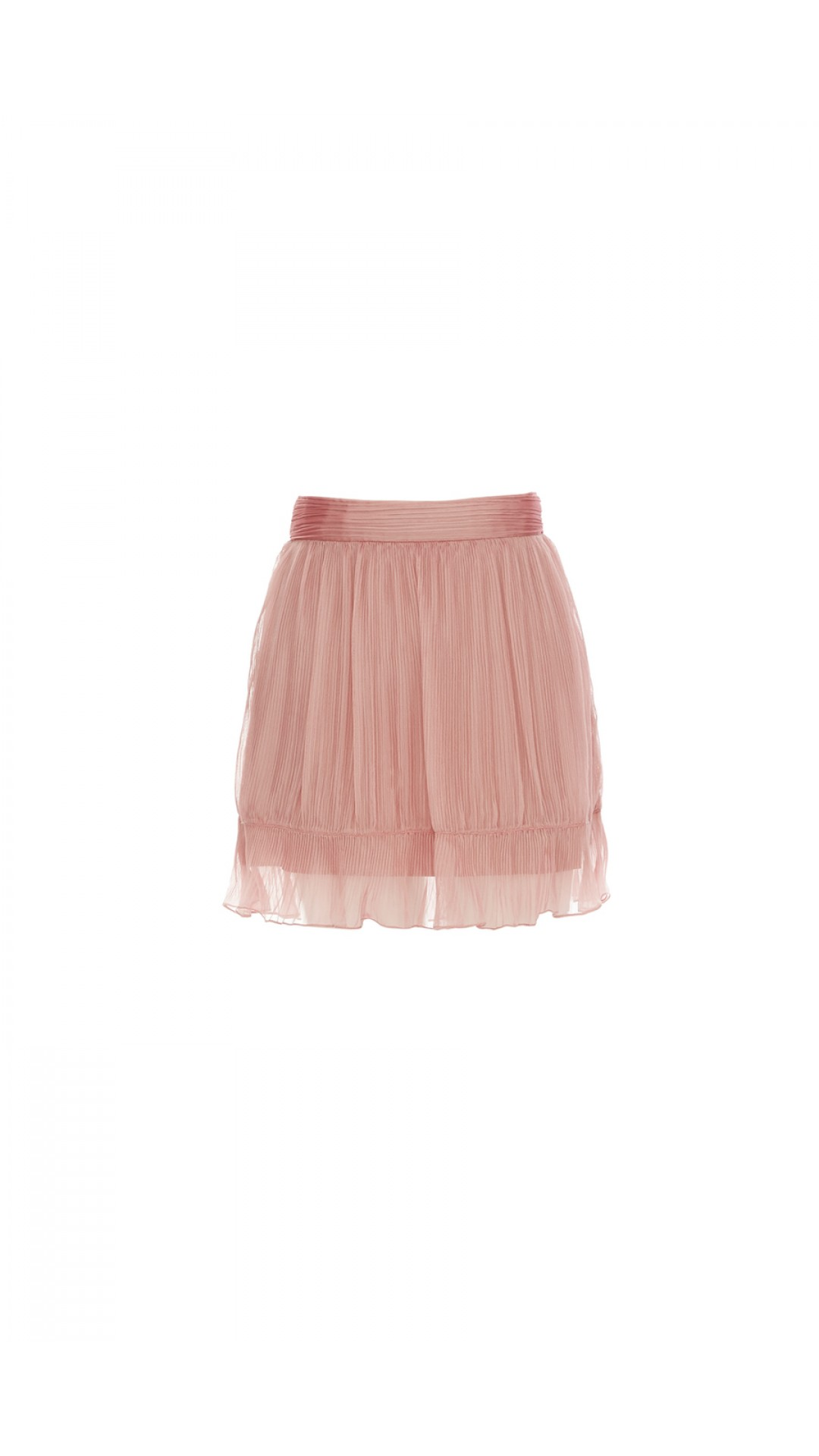 MINI PINK CHIFFON SKIRT