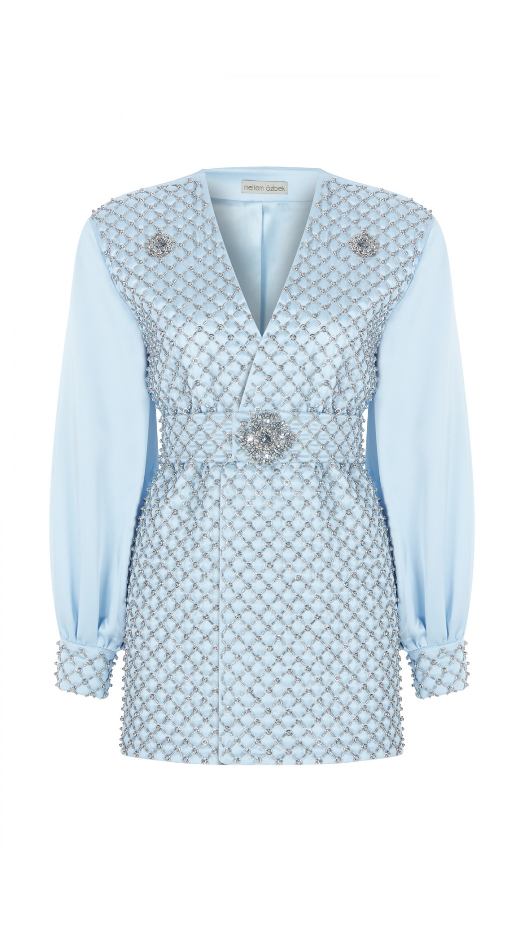 EMBROIDERED JACKET DRESS